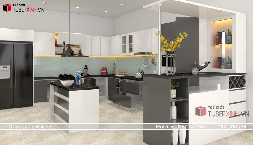 Thi công tủ bếp acrylic như thế nào