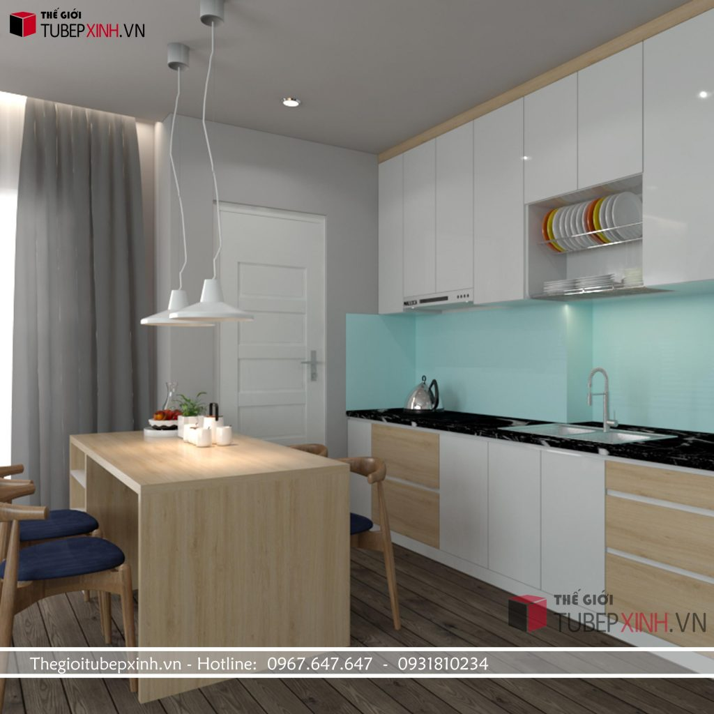 Tủ bếp cao cấp acrylic