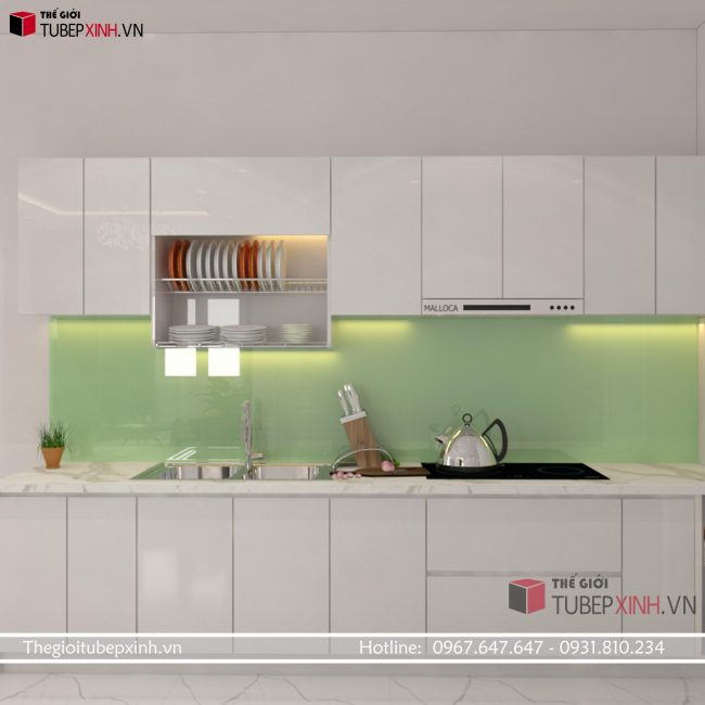 Tủ bếp MDF acrylic