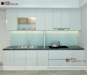 Tủ bếp mdf phủ acrylic