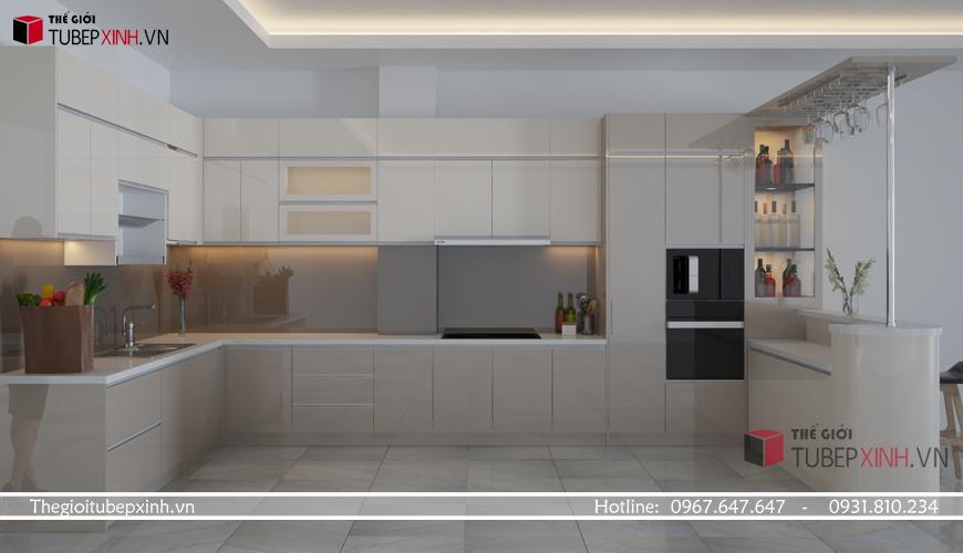 Những mẫu tủ bếp đẹp chữ L