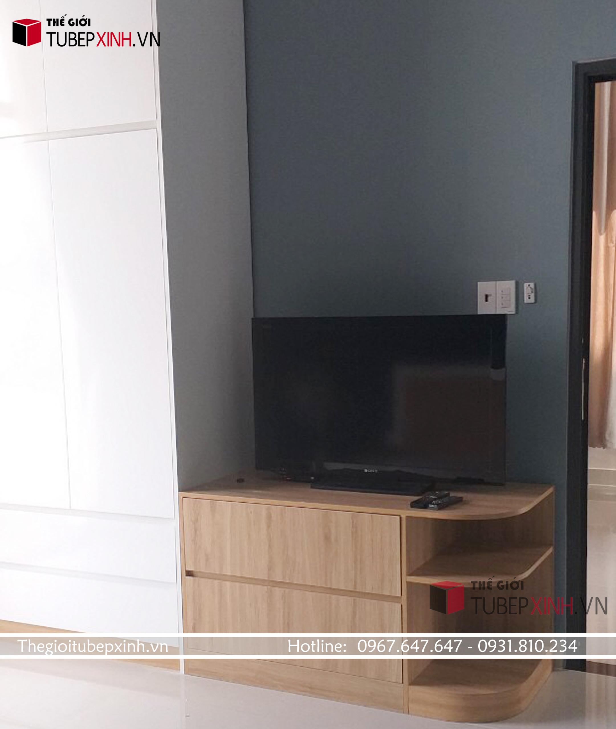 Tủ áo kết hợp kệ tivi