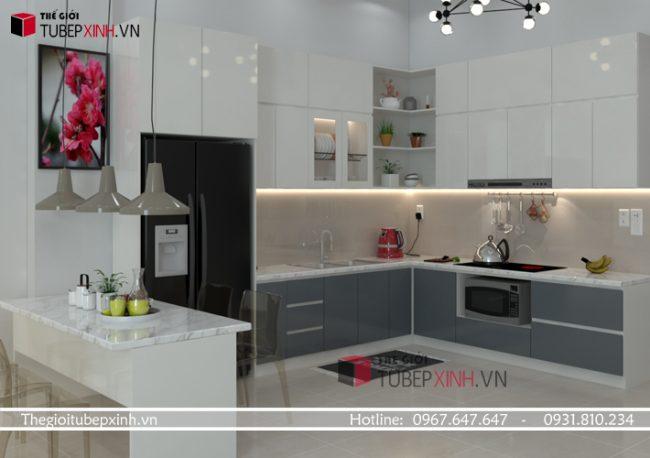 Báo giá thi công tủ bếp acrylic