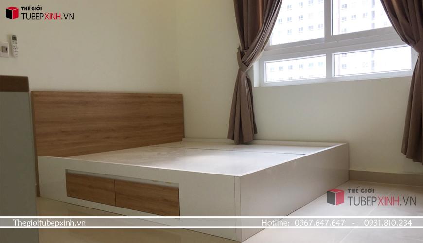 giường ngủ sử dụng ván mdf melamine