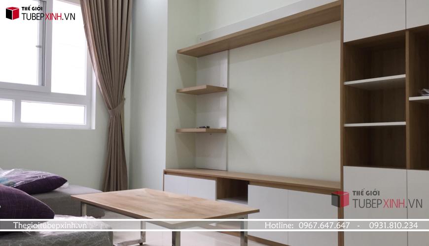 Phòng khách kết hợp bộ sofa hiện đại
