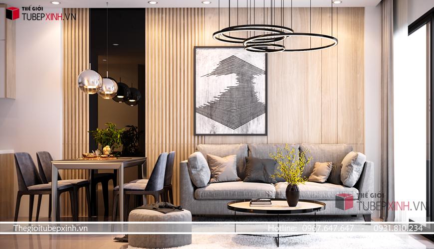 Nội thất phòng khách theo phong cách hiện đại