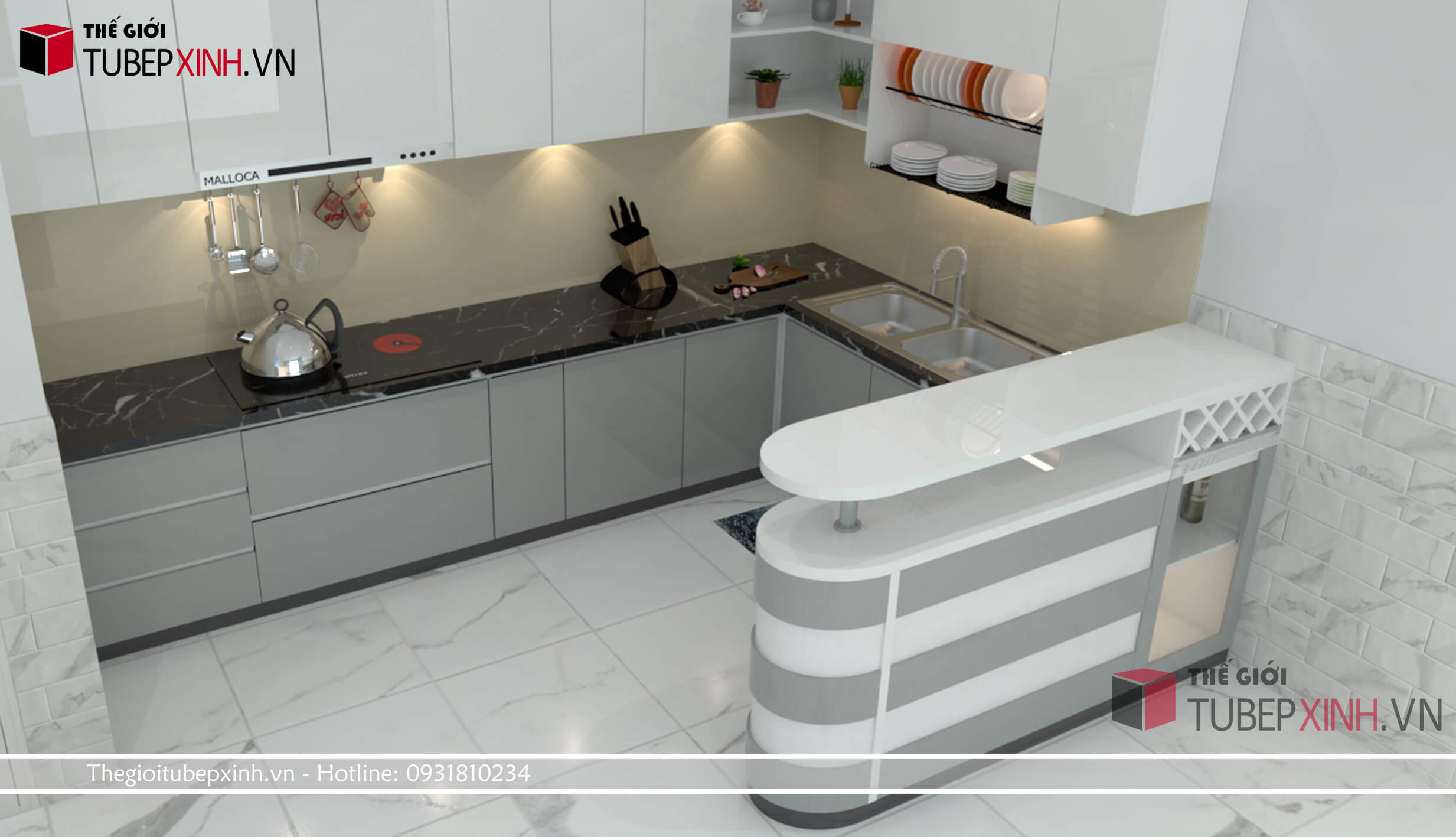 Chuyên thi công đóng tủ bếp theo yêu cầu