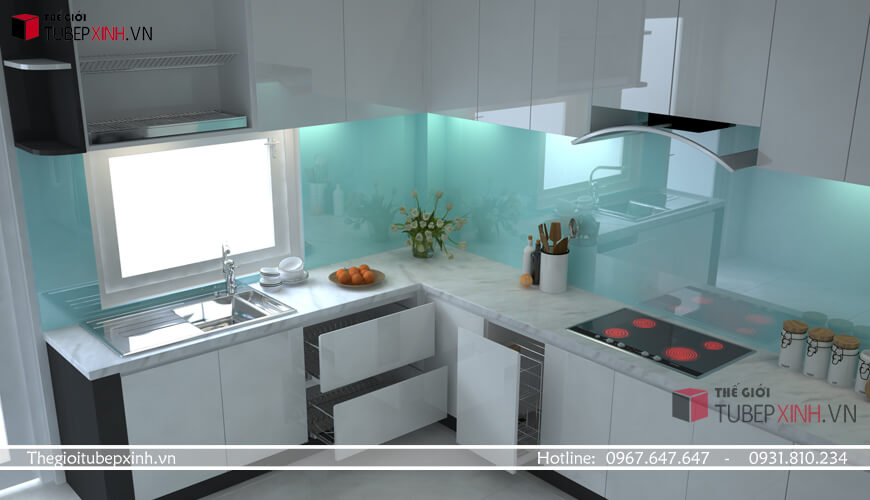 Mẫu thiết kế tủ bếp cao cấp
