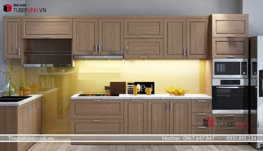 Gía tủ bếp gỗ tự nhiên