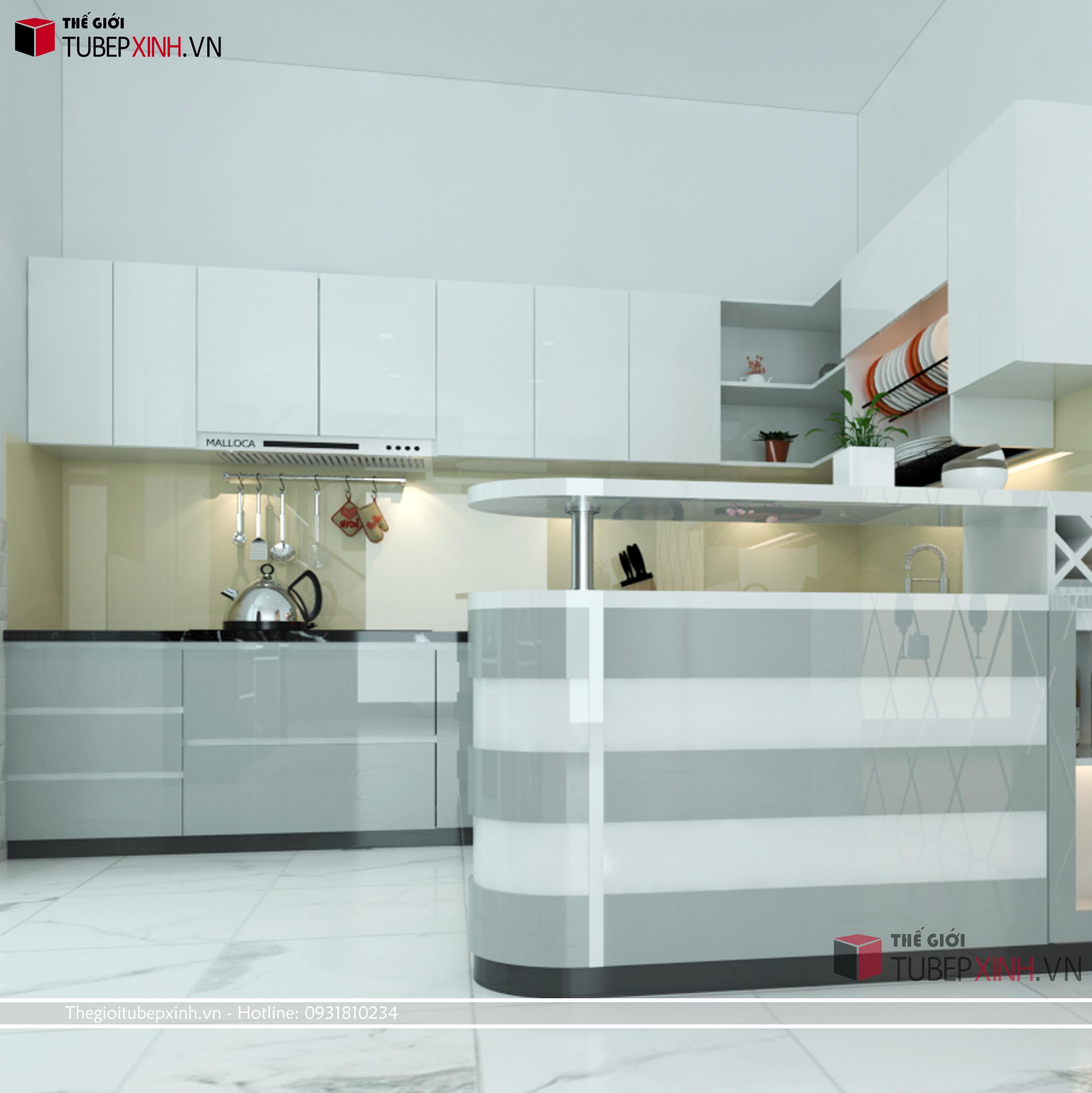 Các loại tủ bếp hiện đại mang nhiều công năng sử dụng