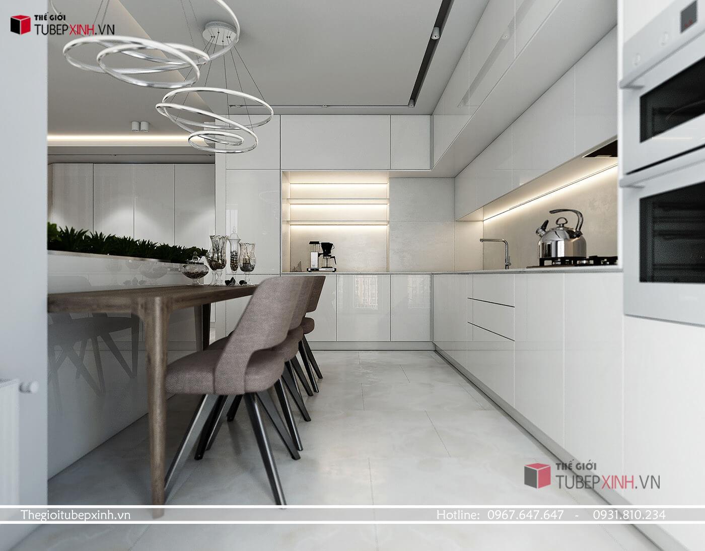 Mẫu thiết kế tủ bếp đẹp hiện đại