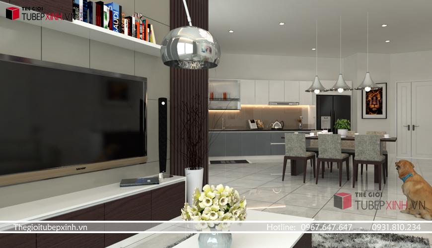 Mẫu tủ bếp hiện đại 2020 được khách hàng ưa chuộng