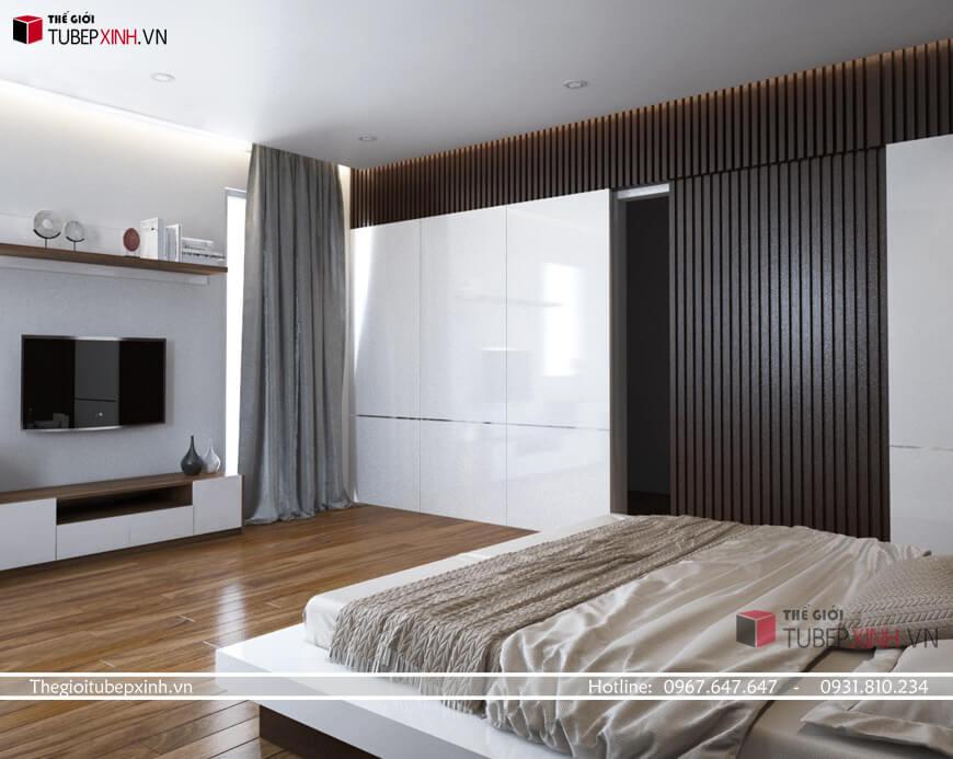 Phòng ngủ Master theo phong cánh hiện đại
