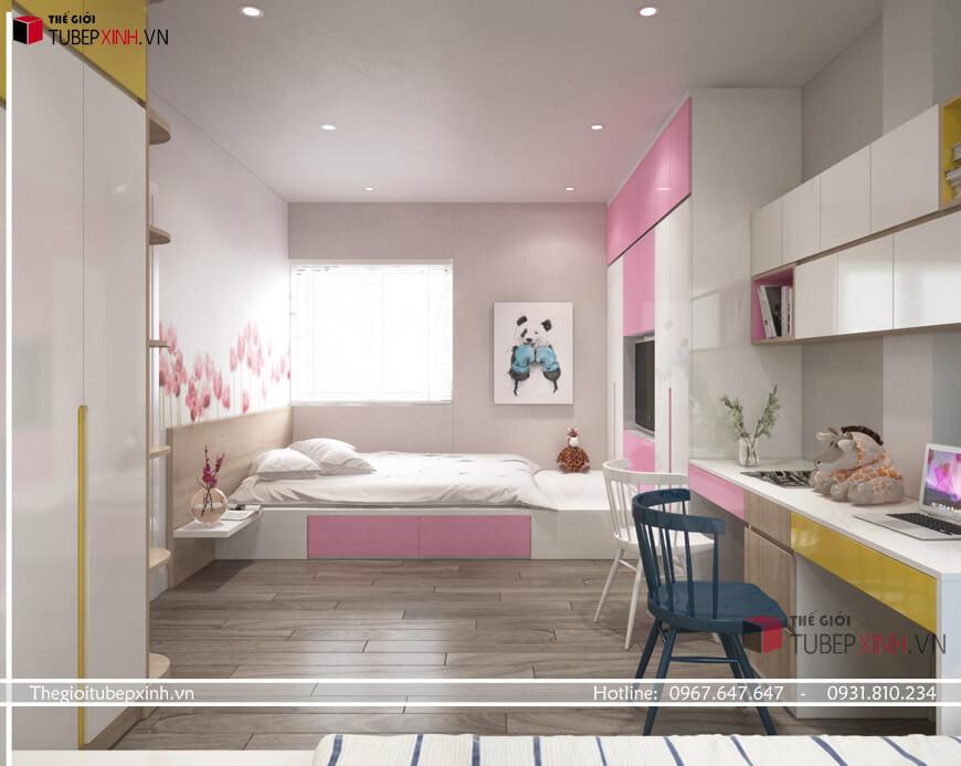 Thiết kế thi công phòng ngủ bé tại Biên Hòa
