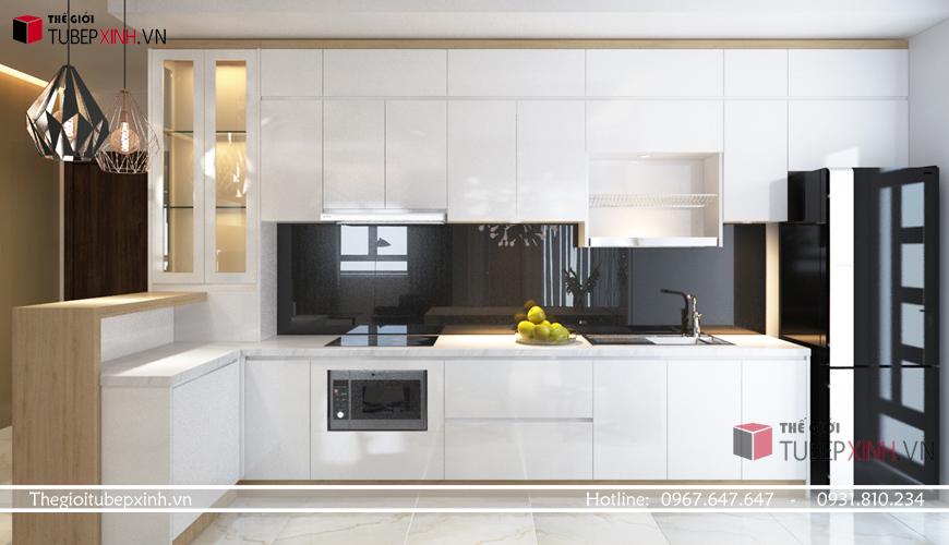 Thiết kế tủ bếp châu âu hiện đại tại tphcm