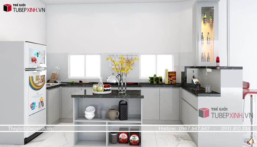 Thiết kế tủ bếp hiện đại sang trọng tại tphcm
