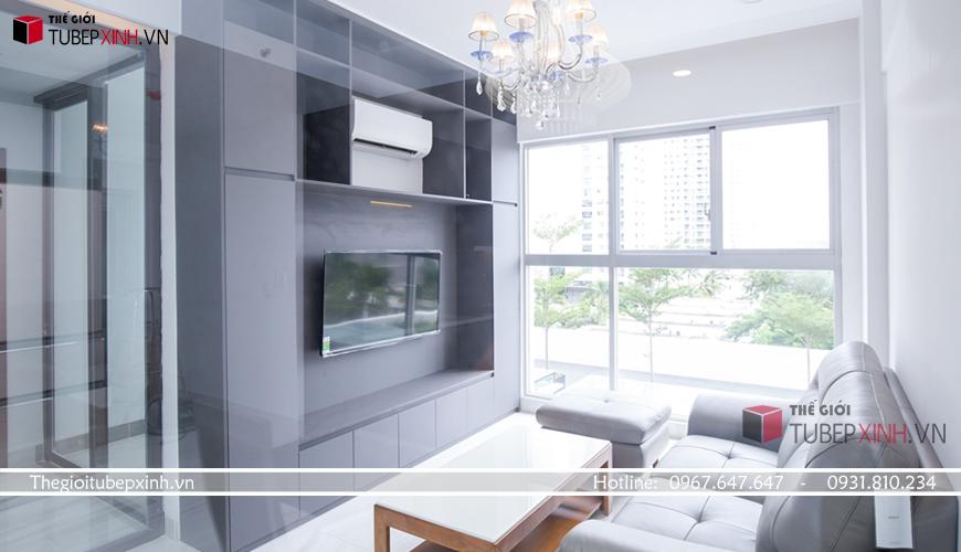 Thiết kế nội thất hiện đại cho phòng khách chung cư Scenic Valley quận 7