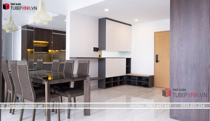Phòng bếp đẹp cho các căn hộ chung cư khách hàng tại tphcm