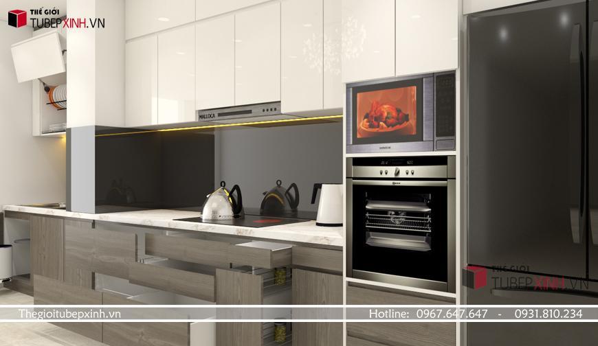 Tủ bếp hiện đại sang trọng tại tphcm với chất liệu tốt nhất
