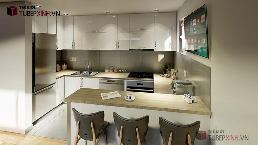 Mẫu bếp hiện đại phù hợp với mọi không gian