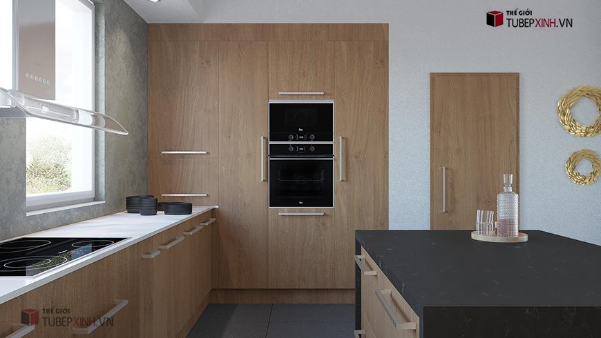 Thiết kế đóng bếp đẹp trực tiếp tại xưởng uy tín