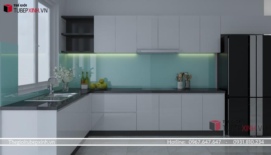 Tủ bếp Acrylic hiện đại nhất
